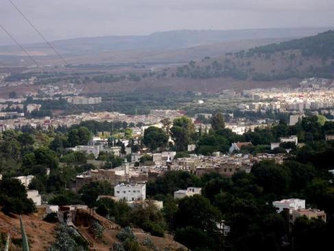 מראה מנקודות תצפית על העיר צפרו במרוקו