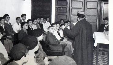 שיעור בישיבת בית דוד צפרו שנות ה- 40