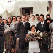 חתונה של גרסיה טובלי ואבנר אסולין , מזוהים בתמונה : יעקב אסולין , אליהו הרוש, חיים טובלי , שולה טובלי , מאיר איטח