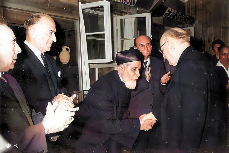 """הרב שמואל בן הרוש ע""""ה בקבלת פנים לנשיא המדינה זלמן שזר"""